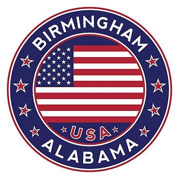 Birmingham, Birmingham Alabama, Birmingham tshirt, Birmingham sticker by Alma-Studio