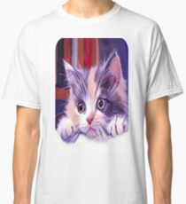 Kitten Looking Out The Window Classic T-Shirt