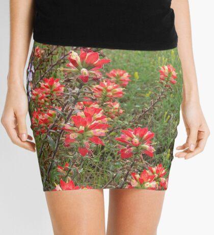 Indian Paintbrush  Mini Skirt