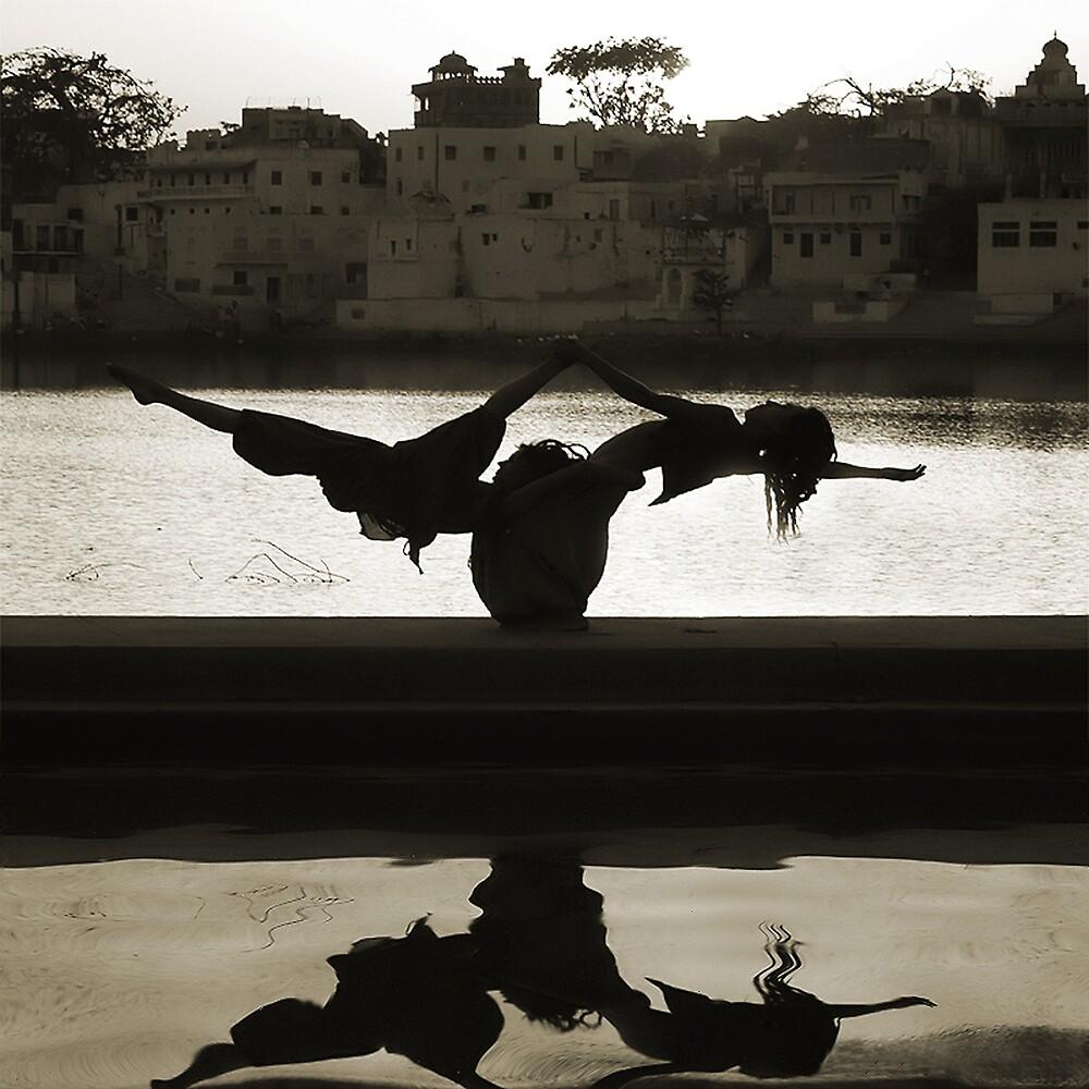 Yoga at the Lake's Edge by Mukesh Srivastava