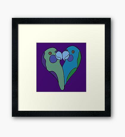 Parrot Heart Framed Print