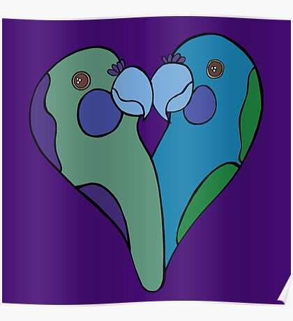 Parrot Heart Poster