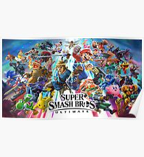 Póster Super Smash Bros U