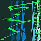 Calligraphic Doodle with Green by marybedy