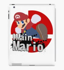 Super Smash Bros. Ultimate - I Main Mario iPad Case/Skin