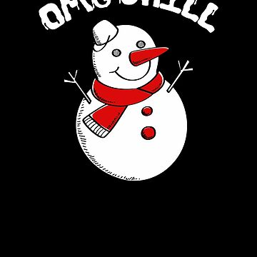 OMG Chill Awesome Christmas Snowman by perfectpresents