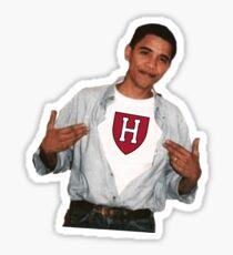 Barack Obama Harvard University Sticker