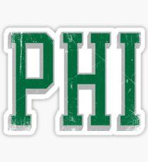 PHI - block abv - 6 Sticker
