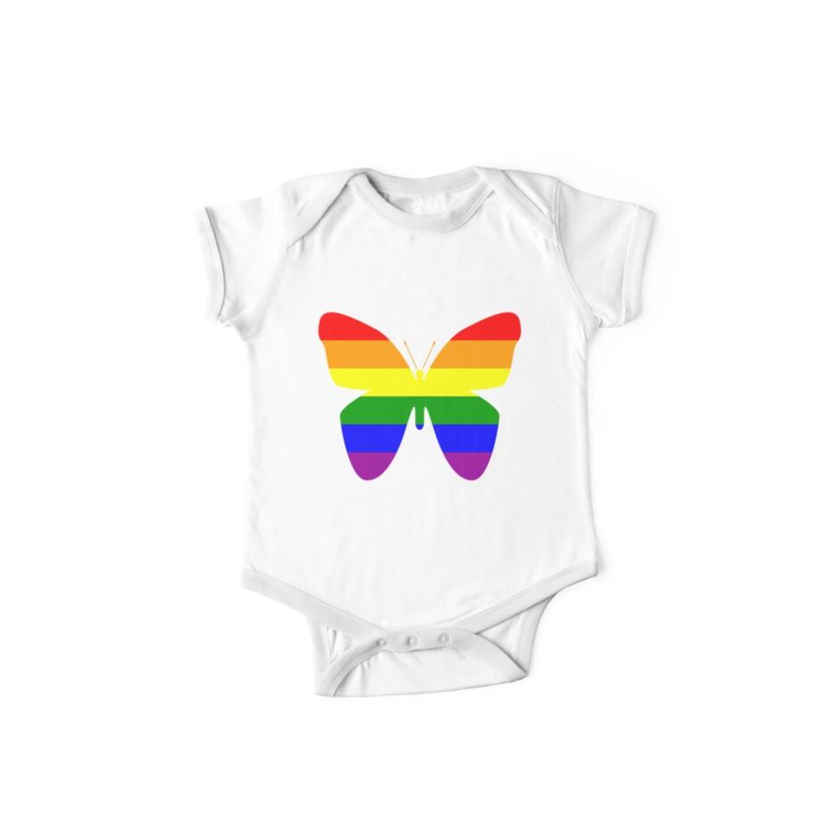 Rainbow Butterfly Gay Pride Flag LGBTQIAPK by cnkna