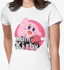 Super Smash Bros. Ultimate - I Main Kirby Women's Fitted T-Shirt