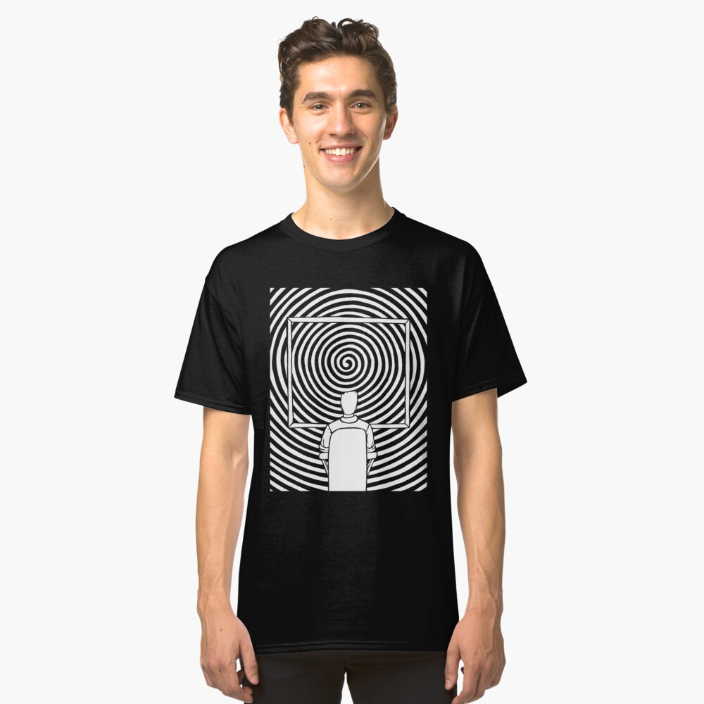 Person Watches Spiral Classic T-Shirt Front