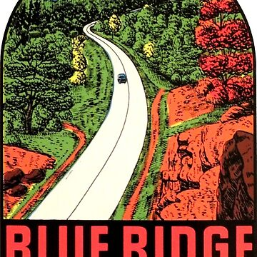 Blue Ridge Parkway 2 Vintage Travel Decal by hilda74