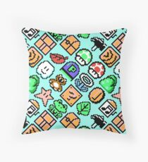 Super Mario Bros. 3 amusing Items pattern BL18R Throw Pillow