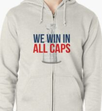 ALL CAPS - Washington Capitals 2018 Stanley Cup Champions Zipped Hoodie bc5b1d691