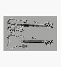 Fender Guitar Patent 1958 Photographic Print