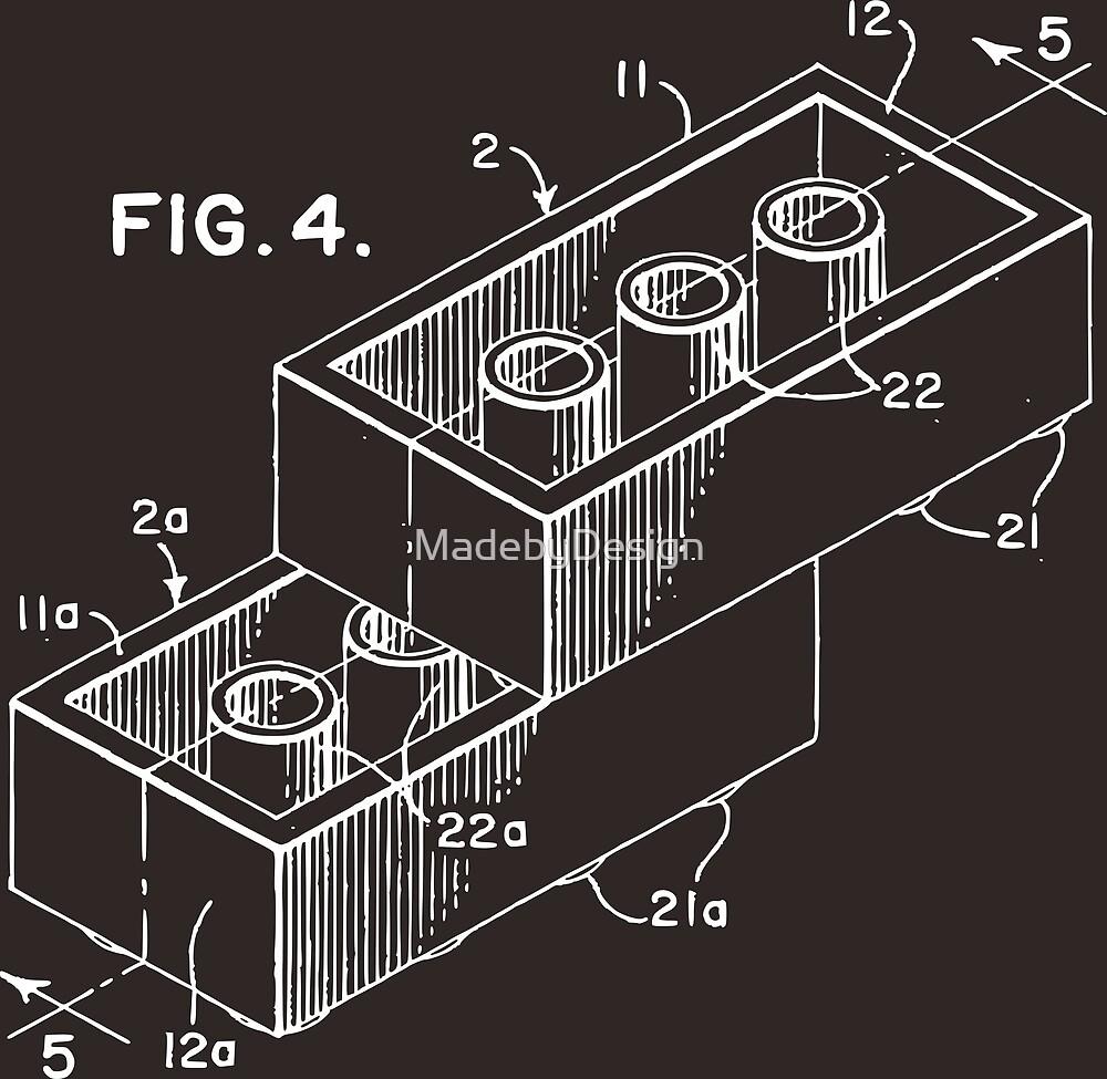 Lego patent blueprint art de madebydesign redbubble lego patent blueprint art de madebydesign malvernweather Choice Image