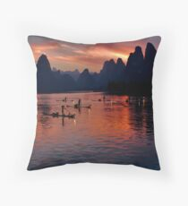 4930 - Xingping Fishermen Throw Pillow