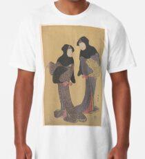 Two Women Conversing Long T-Shirt