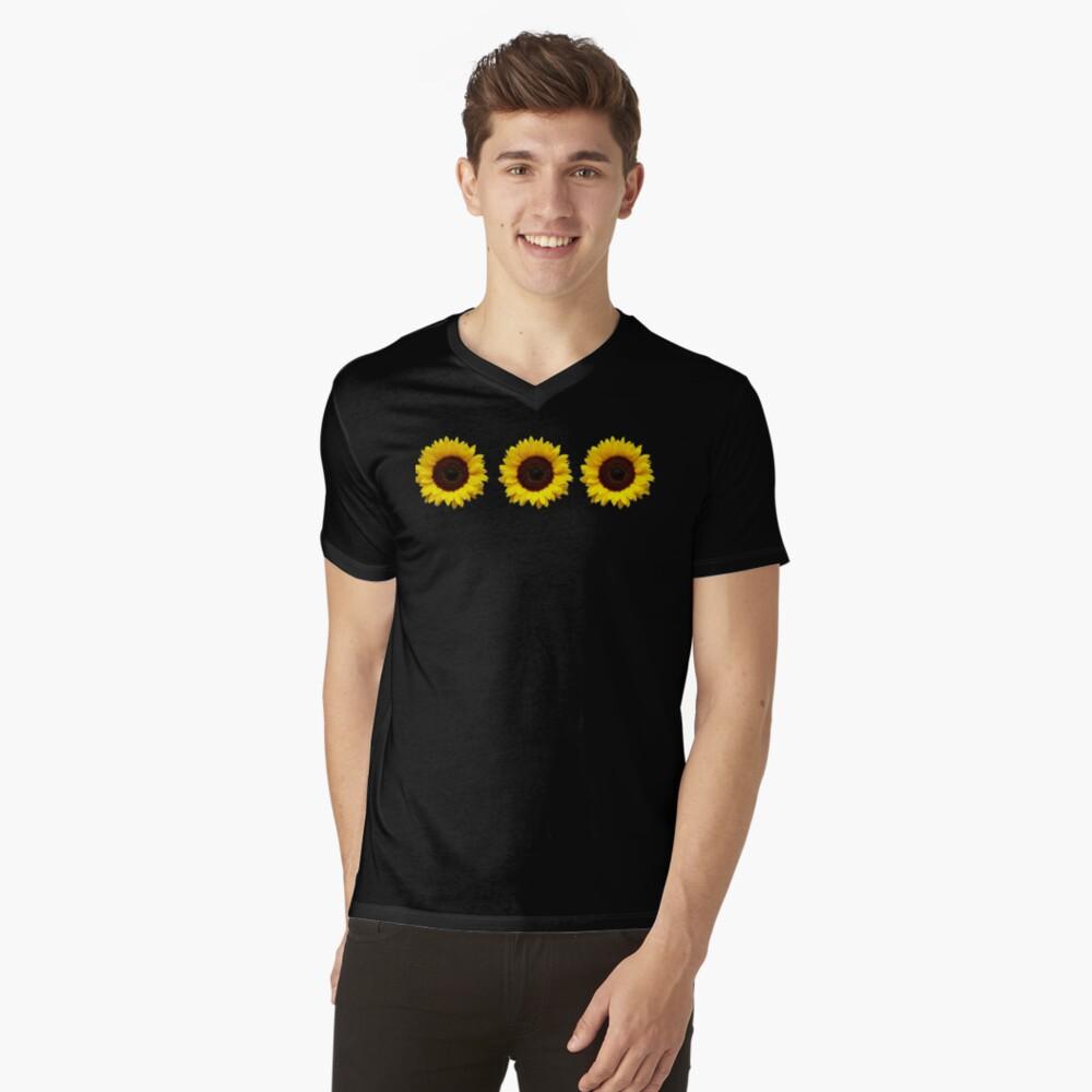 Sunflowers V-Neck T-Shirt