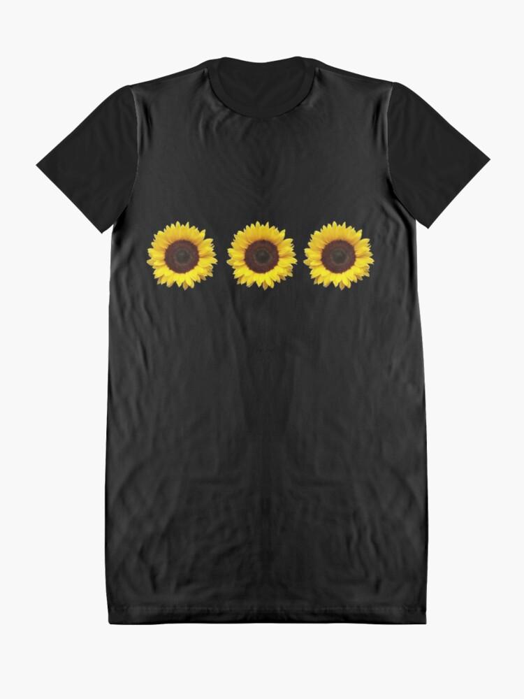 Alternate view of Sunflowers Graphic T-Shirt Dress