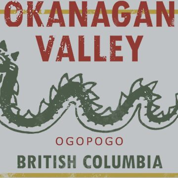 Okanagan Valley British Columbia Vintage Travel Decal by hilda74