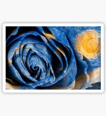 Starry Night Rose Vincent van Gogh Painting Sticker