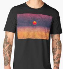 purple digital sunrise background Men's Premium T-Shirt