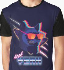 Heck Yeah Retro Cat Graphic T-Shirt