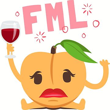FML Peach Emoji by joypixels