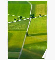 Germany. Bavaria (Bayern). Fields near Schwangau. Poster