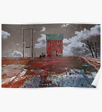swing. red house. flat land Poster