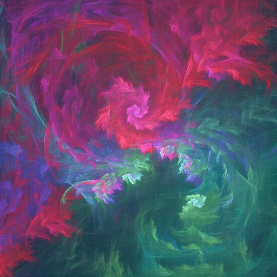 Abstract underwater fractal fantasy flower