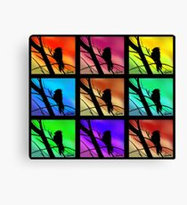 Andy Warhol Inspired Birds Canvas Print