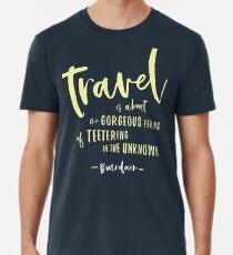 19594a3b8 Bourdain - About Travel Quote Premium T-Shirt