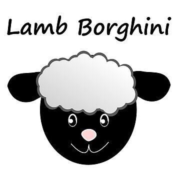 Lamb Borghini funny Sheep Pun by stine1
