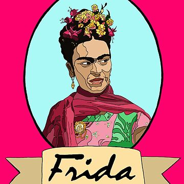 Frida with fucshias by Whatsapooka