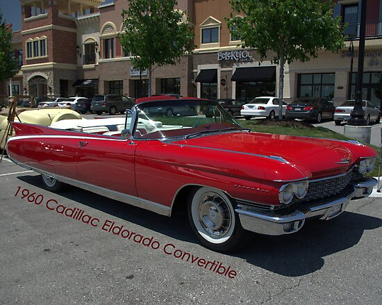 1960 Red Cadillac Eldarodo Convertible by TeeMack