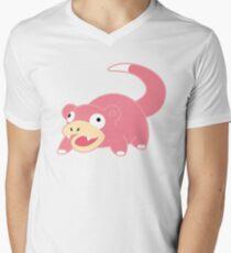 Pokemon - Slowpoke White Men's V-Neck T-Shirt