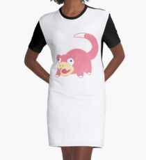 Pokemon - Slowpoke White Graphic T-Shirt Dress