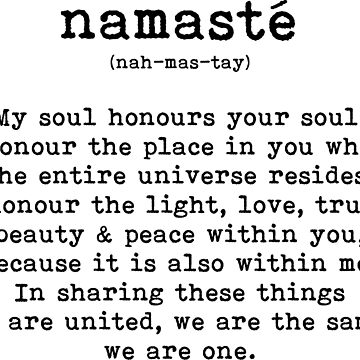 Namaste, Namaste Definition, Namaste Meaning by SloganT-Shirt