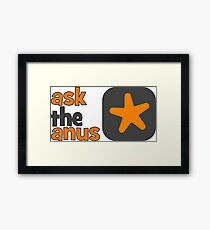 Ask The Anus Logo Framed Print
