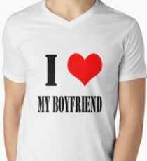 Design love friend Men's V-Neck T-Shirt