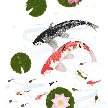 Pond with koi by TpuPyku