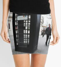 Tourists Startled By BLACK 'Phone Box Mini Skirt