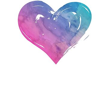 Bisexual Heart Watercolor Bi Design by KNEI