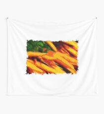 Colorful carrots Polygon Art Wall Tapestry