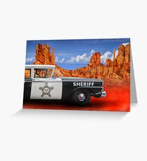 Sheriff Greeting Card