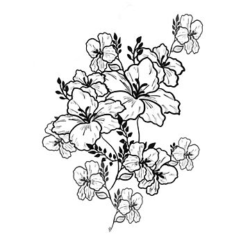 B&w flowers sketch by eligart