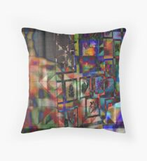 Two Women And A Quilt Throw Pillow