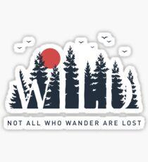 Nicht alle die herumirren sind verloren Sticker